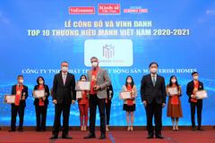 Masterise Homes vào Top 10 Thương hiệu mạnh Việt Nam ngay năm đầu được đề cử