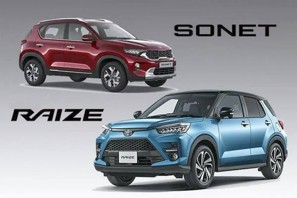 Tầm giá 600 triệu, mua Toyota Raize hay Kia Sonet?
