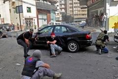 Đấu súng giữa biểu tình ở Beirut, nhiều người thương vong