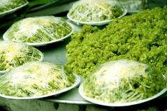 Young sticky rice flakes, taste of autumn in Hanoi