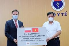 Việt Nam nhận thêm 2 triệu liều vắc xin AstraZeneca do Ba Lan và Hàn Quốc tài trợ