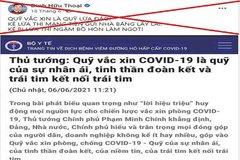Đăng thông tin sai về quỹ vắc xin, người đàn ông ở Quảng Nam bị phạt 7,5 triệu