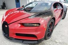 Chiếc Bugatti Chiron Sport cháy loang lổ được rao với giá 345.000 USD