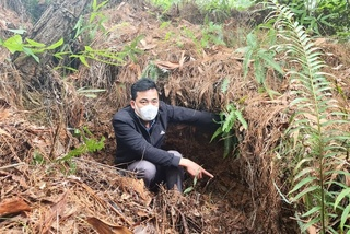 Núi nứt toác, hơn chục hộ dân ở Thanh Hóa nơm nớp lo sạt lở