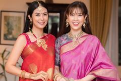 Hoa hậu Ngọc Hân, NTK Đức Hùng dự sự kiện của Đại sứ quán Ấn Độ