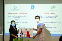 Israel trao tặng màng phim kháng virus cho bệnh viện 175