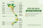 Cấp độ dịch của 37 tỉnh, thành phố