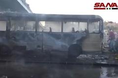 Đánh bom rung chuyển thủ đô Syria, nhiều binh sĩ thiệt mạng