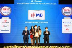 MB vào top 4 ngân hàng uy tín năm 2021