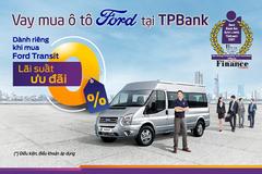 Mua ô tô Ford với gói vay lãi suất 0% từ TPBank