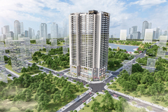 Thiết kế độc đáo của căn hộ 2 phòng ngủ Harmony Square, Thanh Xuân