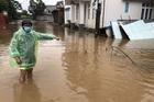 Dòng nước đục ngầu tràn về, gây ngập nhiều nhà dân ở Quảng Trị